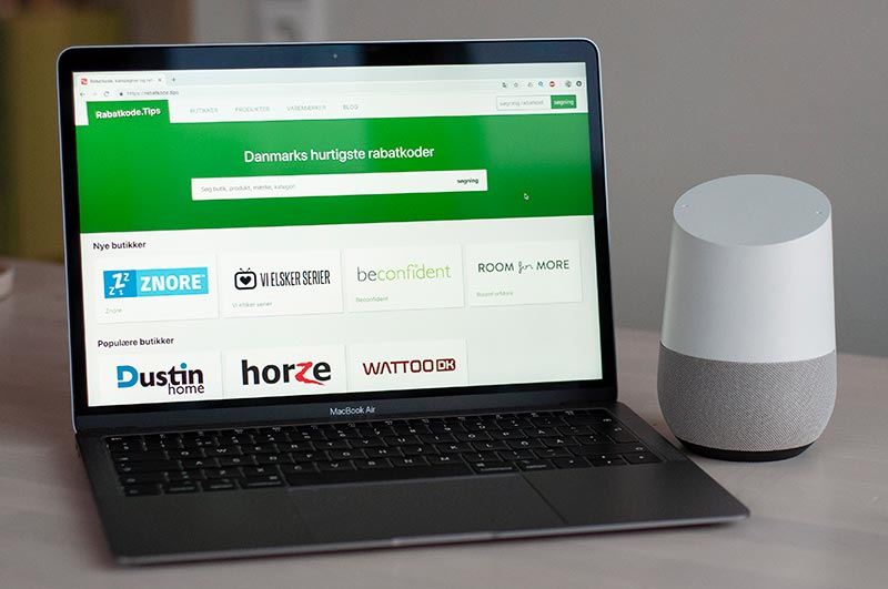 Rabatkode.tips på Google Home