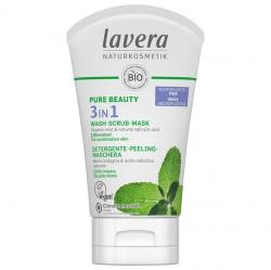 Lavera 3-in-1 Wash, Scrub, Mask, 125 ml